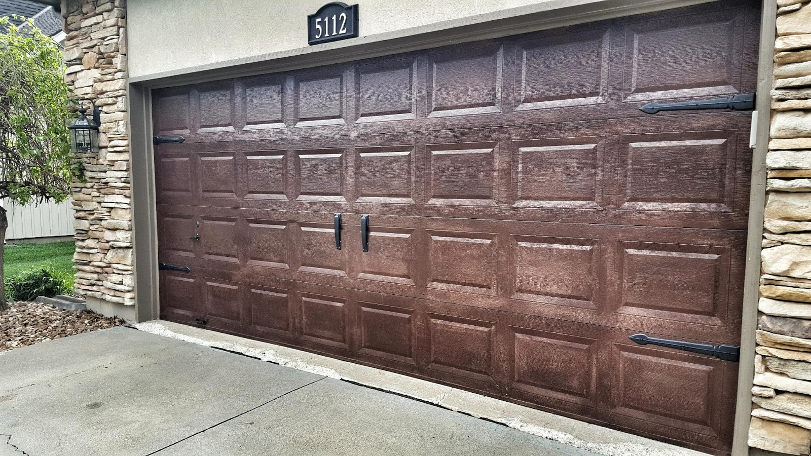 Gel Stain On Garage Door