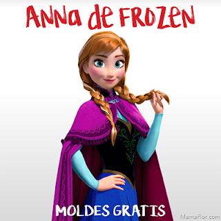 Molde: Anna de Frozen – Centro de Mesa (Parte 2/2)
