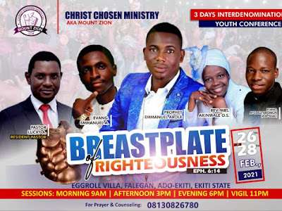 FREE FEEDING, ACCOMMODATION FOR  ALL AT CCM YOUTH CONFERENCE IN EKITI