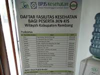 Daftar Fasilitas BPJS Kesehatan di Kabupaten Rembang