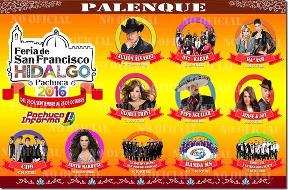Cartel Palenque Feria de Pachuca 2016