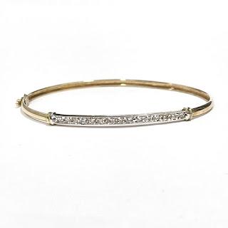 14K Gold & Clear Accent Bracelet