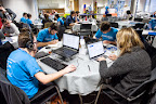 Dutch team Frontwise during EUhackathon 2014 at Googleplex in Brussels, Belgium on 02.12.2014