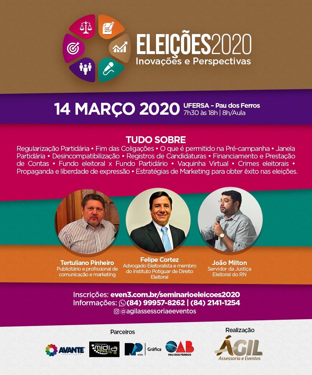 Pau dos Ferros recebe evento de Direito e Marketing Eleitoral
