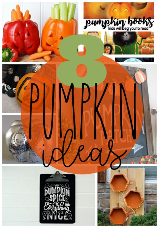 8 Pumpkin Ideas at GingerSnapCrafts.com #pumpkin #fall