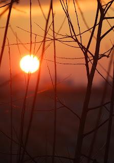 Het kleine Paradijs, zonsondergang