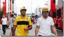 Carlos Sainz e Fernando Alonso