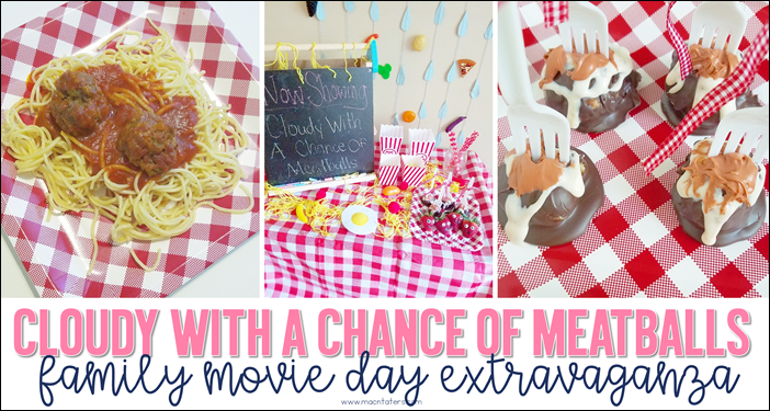 Cloudy With A Chance of Meatballs Family Movie Day
