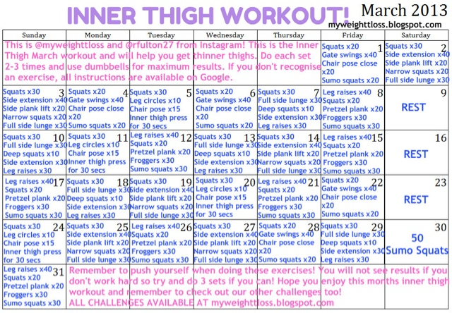My Fitness Journey: Inner Thigh March Challenge!