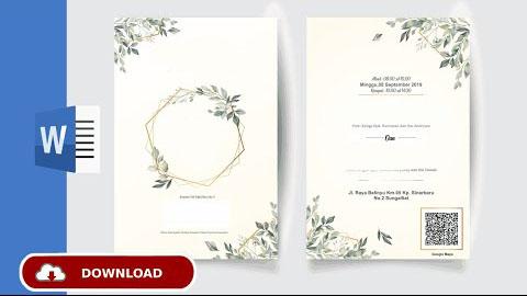 Download Undangan Pernikahan Simple Elegan Dengan Word