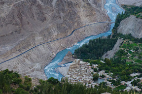 Altit fort, Hunza River, and KKH