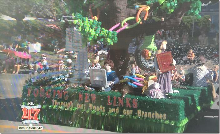 家庭历史主题漂浮在盐湖城游行浮动浮动显示家庭搜索徽标