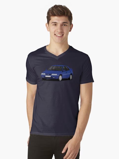 Citroën Xantia t-shirt - blue