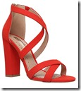 Miss KG Red Faux Suede Sandals