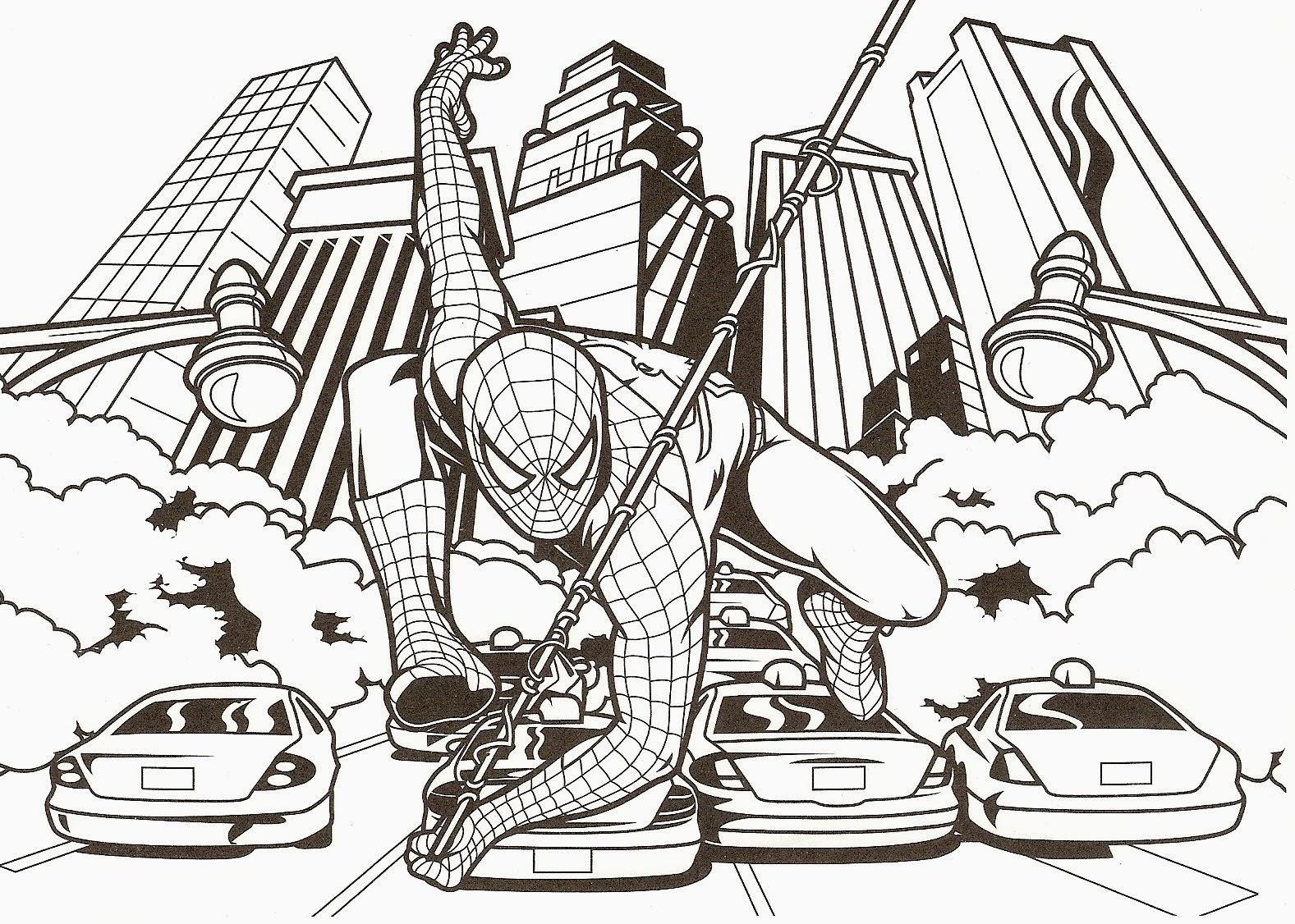 Dessin De Spiderman A Imprimer Et A Colorier