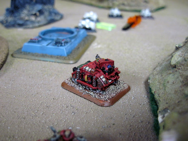 Matt's Razorback holds an objective.