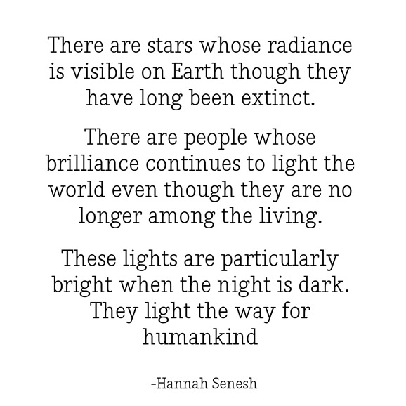 stars light the way -- senesh