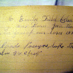 Emila Field Gleaves was Born Jan. the 23 in the Year of our lord 1873.