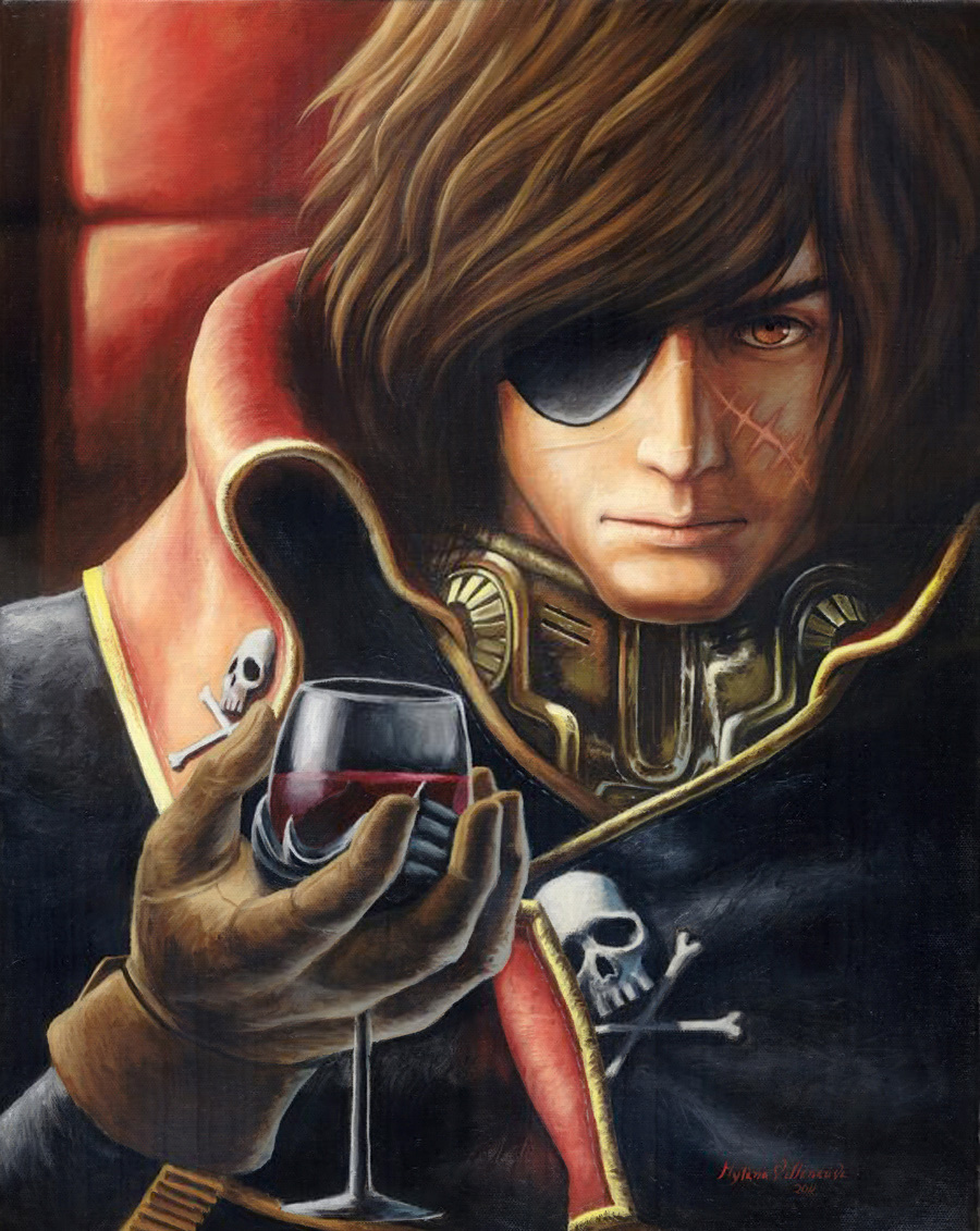 Captain Harlock oil painting by PrincessTigerLili