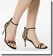 Karen Millen Two Part Leopard Stiletto Sandals