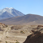 Volcán, frontera con Chile