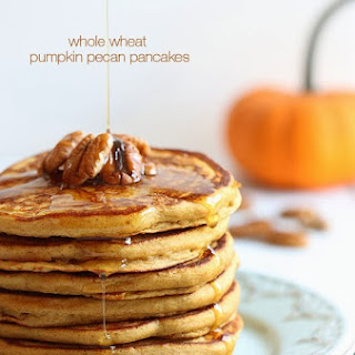 Whole Wheat Pumpkin Pecan Pancakes