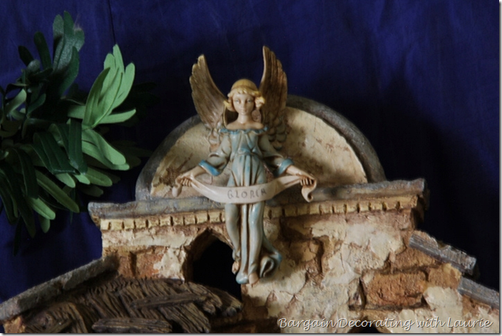 Fontanini Angel on Creche for Cristmas Mantel