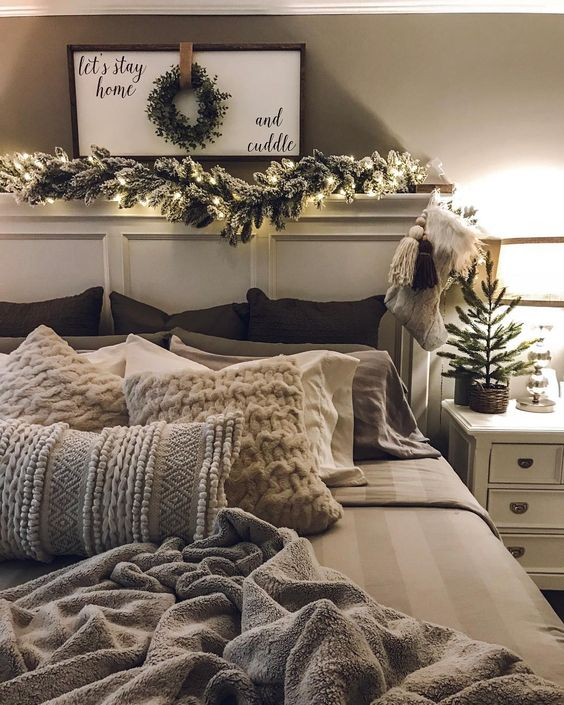 Dress Up Your Headboard With Garland