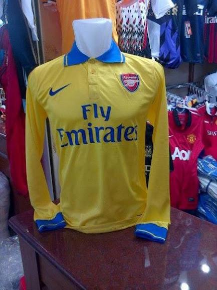 Jual Jersey Arsenal Away Lengan Panjang 2014