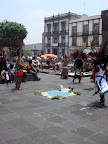 Native dancers at Zocalo in Mexico City