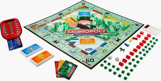 Thành phần của bộ Cờ tỷ phú tiếng Anh Monopoly Electronic Banking thật sinh động