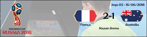 1ª Fase - franca 2-1 australia