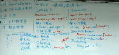 Java和C語法比較