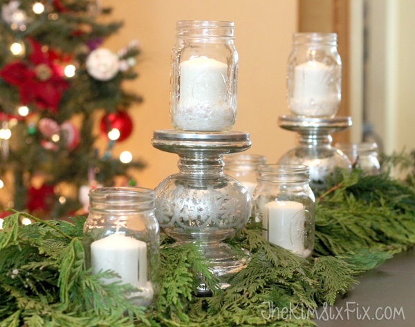 Mason jar christmas centerpieces
