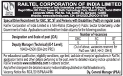 Railtel India Jobs 2016 www.indgovtjobs.in