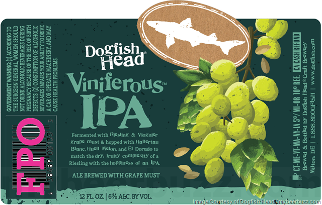 Dogfish Head Adding NEW Viniferous IPA Bottles