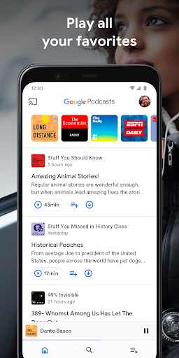 google podcasts: discover free & trending podcasts screenshot 1