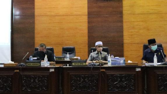 DPRD Sumbar Gelar Rapat Paripurna Penyampaian Nota Pengantar Ranperda APBD 2022