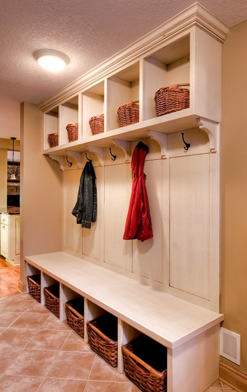 stone hearth remodeling mudroom