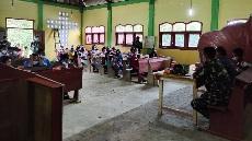 Serma Harapan Ritongan Berikan Materi Patroli Karhutla, Giat Penyuluhan Karhutla TMMD  Kodim  Tapsel
