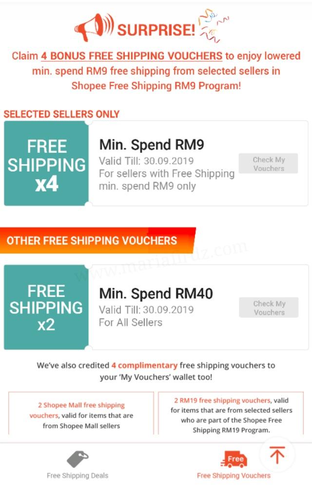Cara dapatkan Free Shipping di Shopee