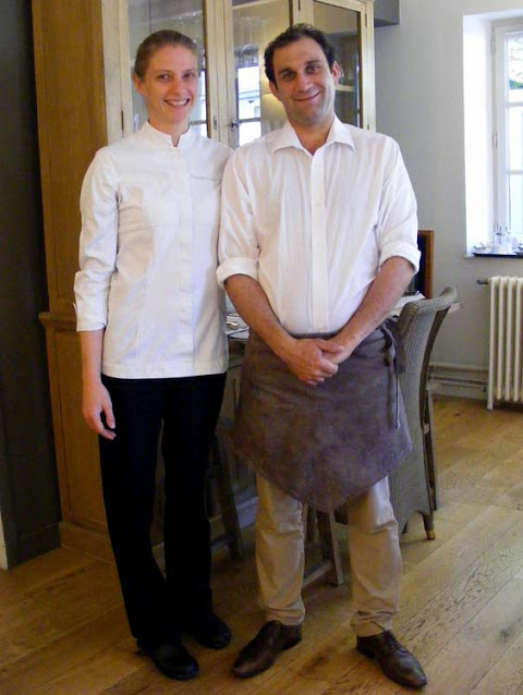 Owners Chef Armande and front of house Julien Pascal, Le Clos aux Roses restaurant, Indre et Loire, France. Photo by Loire Valley Time Travel.