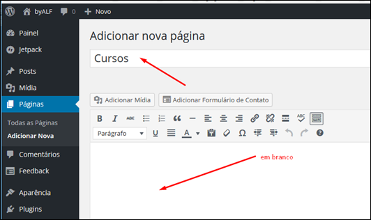 Como inserir link externo no menu do Wordpress - Visual Dicas