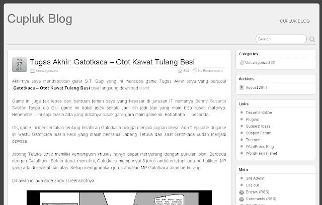 Menggunakan Template Wordpress Suffusion