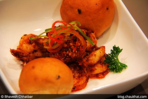 Gambas Caliente served at 212 All Day Cafe & Bar at Phoenix Marketcity in Pune