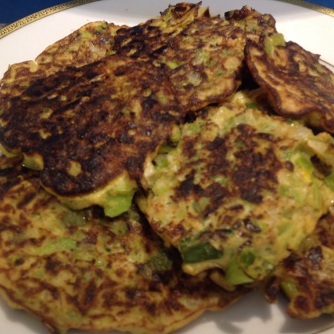 homemade leek patties on a plate