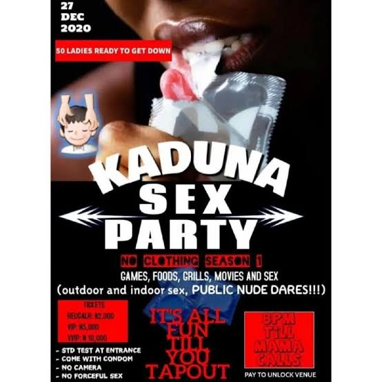 Re: Police Arrest Organisers Of Sex Party In Kaduna