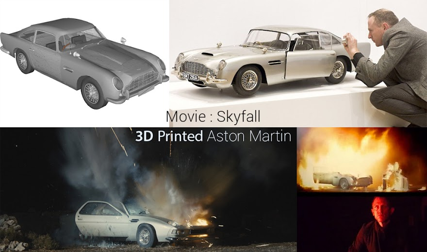 3D Printing, 3D Printer, 3D Printed stuff, 3D Printed material, Kolkata Bloggers, 3D Printed Car, 3D Cars, Automobile, James Bond, Skyfall, Aston Martin, Aston Martin blow up in Skyfall, Aston Martin blow up in James Bond, Action