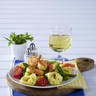 Tortellini mit Garnelen in Zitronenbutter