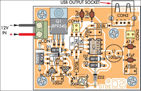 Low Power Car Bike Usb Charger Electronic Schematics